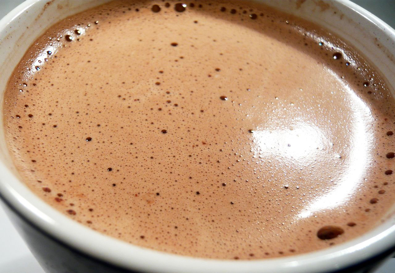 Warm up any time with a rich cup of hot cocoa!