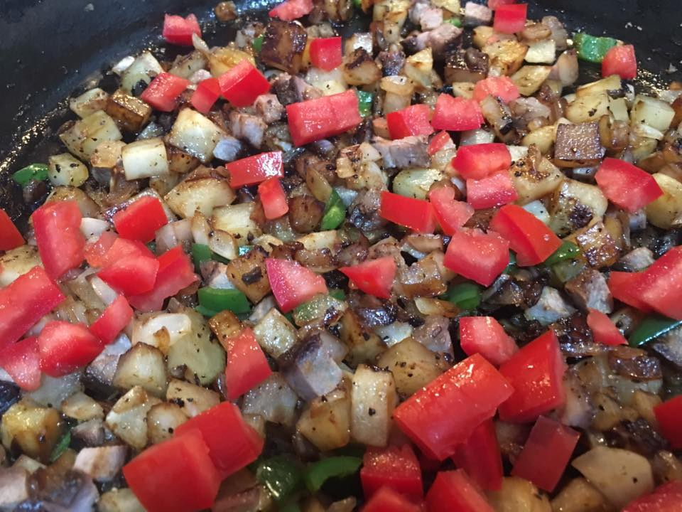 Pico de Gallo in Fried Potatoes.